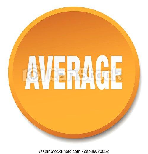average orange round flat isolated push button - csp36020052