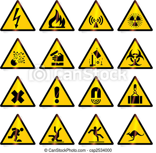 avertissement, (vector), signes - csp2534000