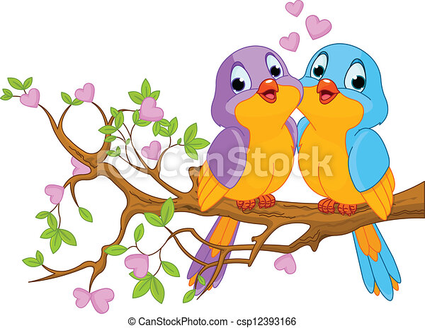 Pájaros enamorados - csp12393166