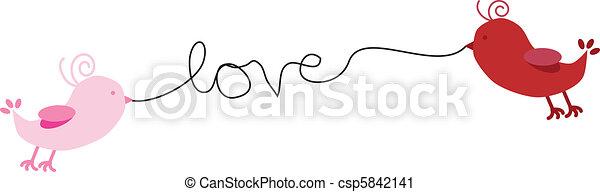 Los pájaros del amor - csp5842141