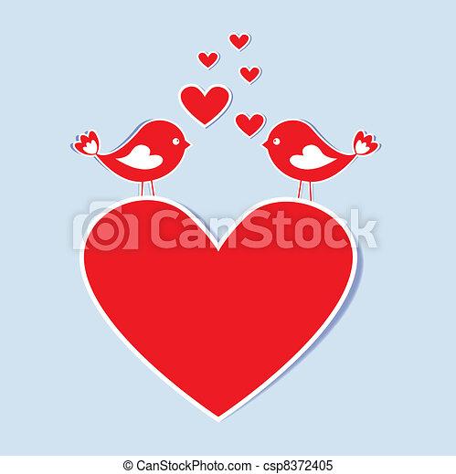 Pájaros enamorados - csp8372405
