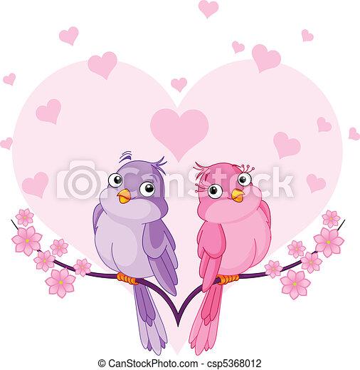 Pájaros enamorados - csp5368012