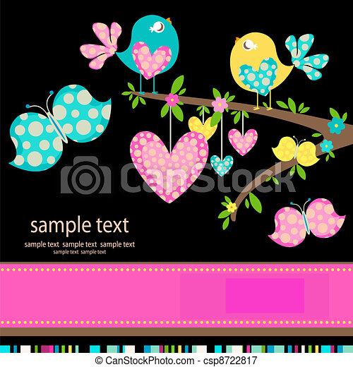 Pájaros enamorados - csp8722817