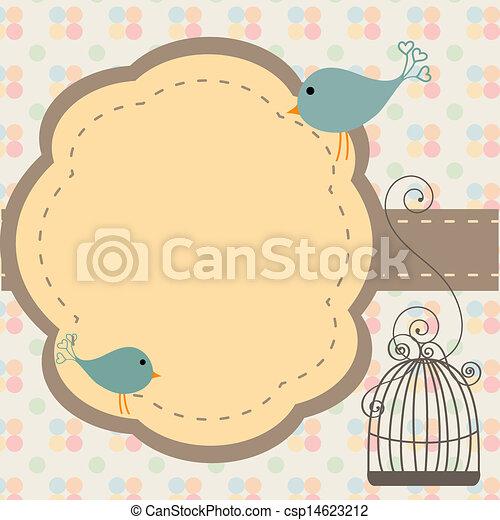 Invitación de aves - csp14623212