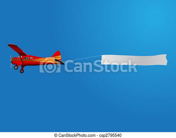 avião, bandeira - csp2795540