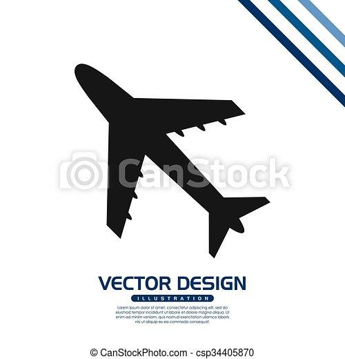 Aviao Desenho Viagem Grafico Eps10 Viagem Ilustracao