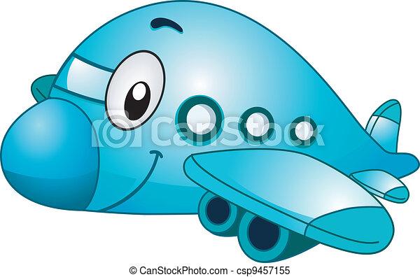 avião, mascote - csp9457155