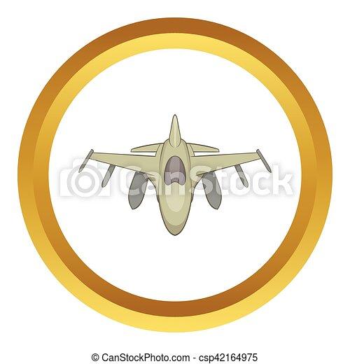 El icono vectorial militar - csp42164975