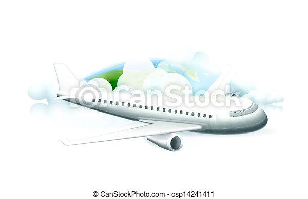 Avión, vector - csp14241411