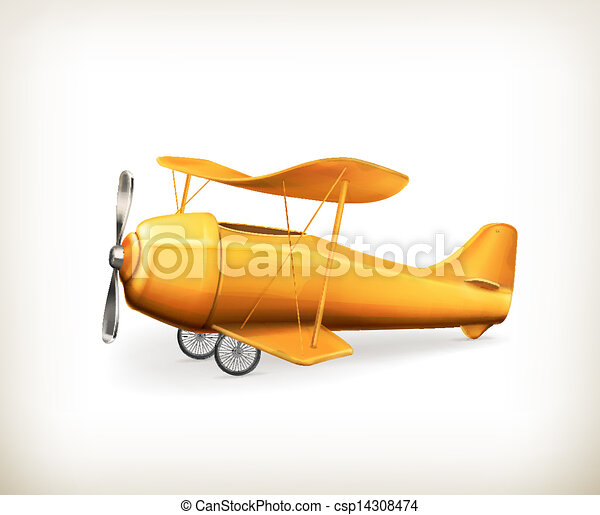 Avión, icono del vector - csp14308474