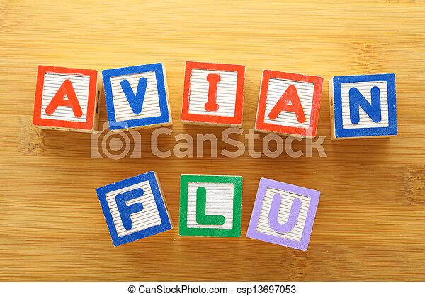 avian, jouet, grippe, bloc - csp13697053
