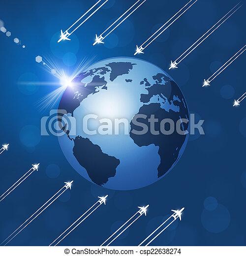 Aviation Background - csp22638274