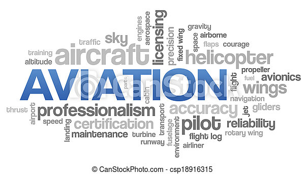 Aviation Word Cloud Blue Bubble Tags Tree Vector - csp18916315
