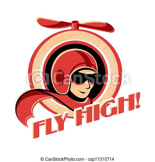 Aviator sticker - csp11310714