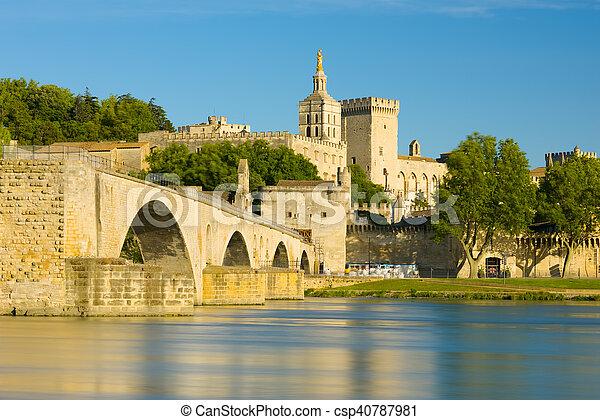 Avignon in a sunny summer day - csp40787981