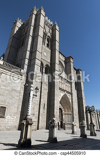 Avila (Castilla y Leon, Spain): cathedral - csp44505910