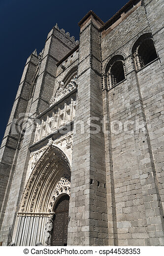 Avila (Castilla y Leon, Spain): cathedral - csp44538353