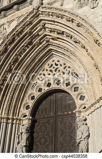 Avila (Castilla y Leon, Spain): cathedral - csp44538358