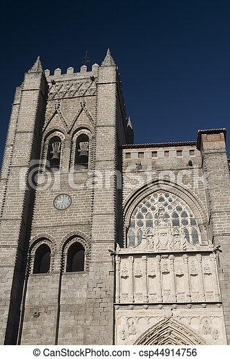 Avila (Castilla y Leon, Spain): cathedral - csp44914756