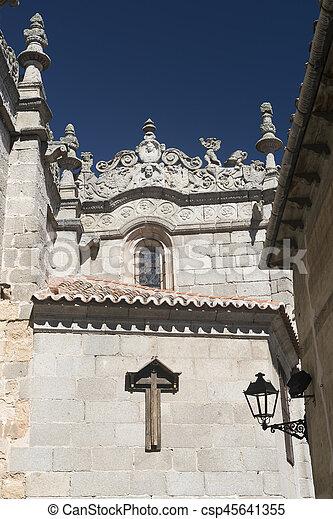 Avila (Castilla y Leon, Spain): cathedral - csp45641355