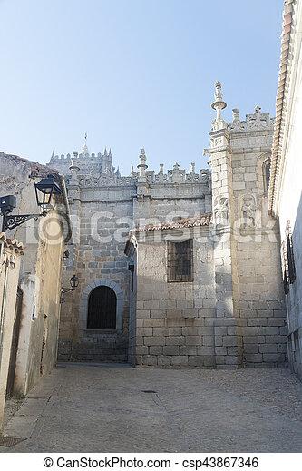 Avila (Castilla y Leon, Spain): cathedral - csp43867346
