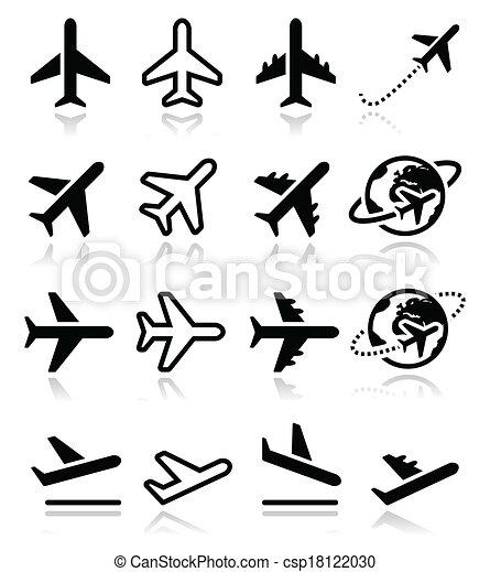 Avion a roport ensemble vol ic nes ensemble ic nes - Dessin avion stylise ...