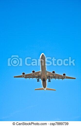 avion, approche, atterrissage - csp7889739