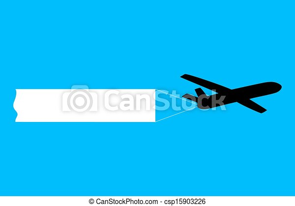 avion, bannière, traction - csp15903226