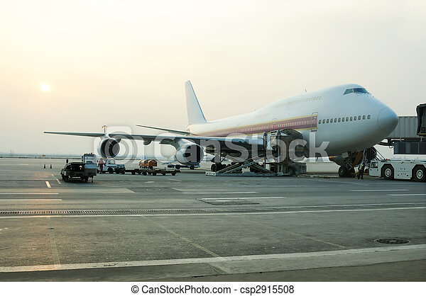 avion cargaison, chargement - csp2915508