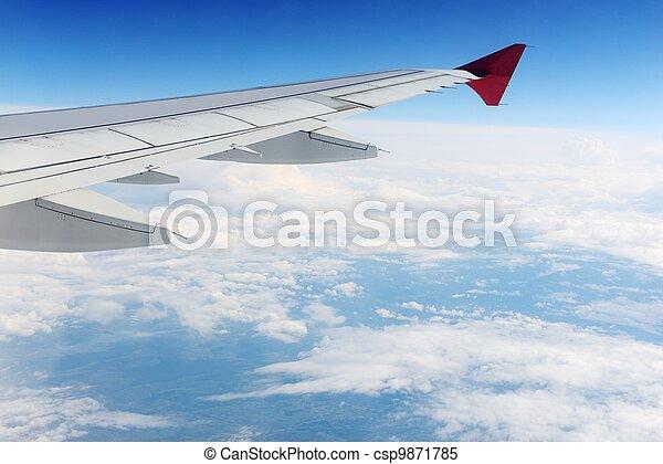 avion, ciel, vue - csp9871785