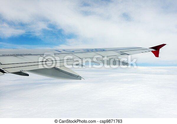 avion, ciel, vue - csp9871763