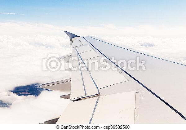avion, nuages, vue - csp36532560