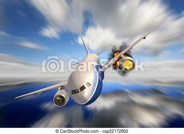 avion passager - csp22172862