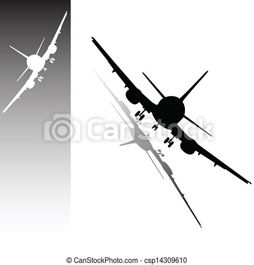 avion vecteur noir blanc illustration. Black Bedroom Furniture Sets. Home Design Ideas
