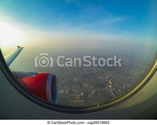 avion, vue - csp29319663