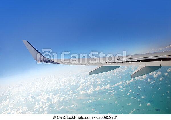 avion, vue - csp0959731