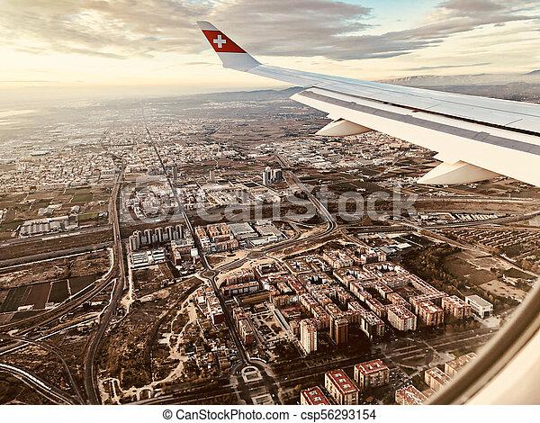avion, vue - csp56293154