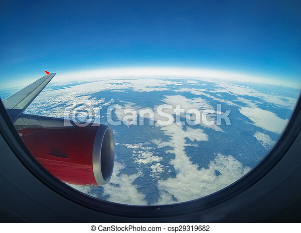 avion, vue - csp29319682