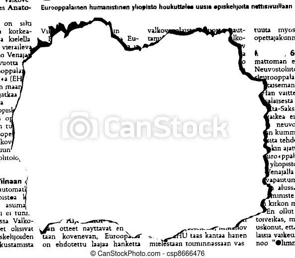 avis, hul, vektor - csp8666476