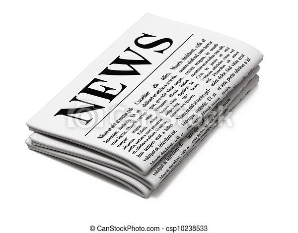 avis, hvid baggrund - csp10238533