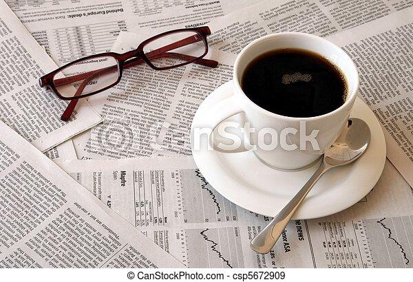 avis, kaffe, hen - csp5672909
