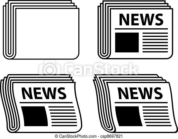 avis, symboler, bølgede, sort, vektor - csp8697821