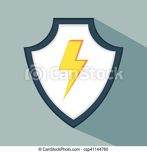 aviso, dados, seguro, proteção, escudo - csp41144760