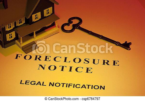 aviso, foreclosure - csp6784797