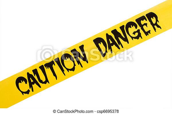 aviso, perigo - csp6695378