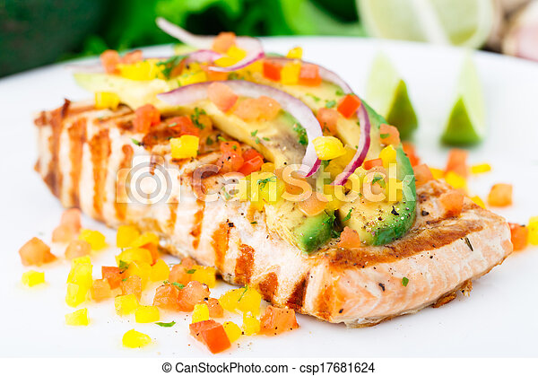 Avocado lime salmon - csp17681624