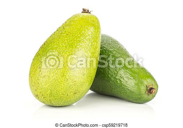 avocado, liscio, isolato, crudo, fresco, bianco - csp59219718