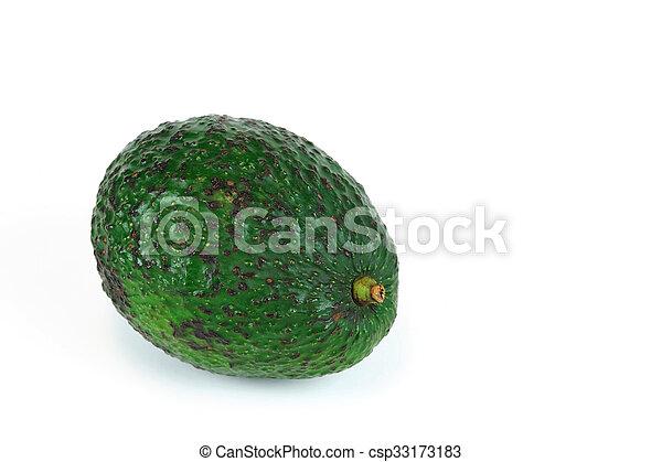 avocado on white background - csp33173183