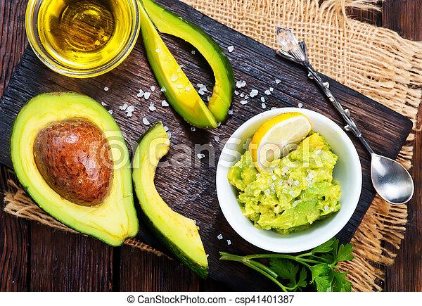 avocado, saus - csp41401387