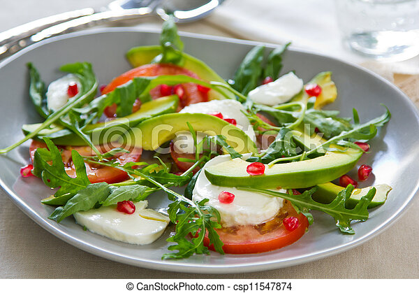Avocado with Pomegranate salad - csp11547874